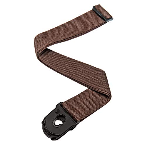Planet Waves PWSPL209 Polypropylengurt Poly-Pro Strap Collection Brown Planet Lock System Länge: 990mm - 1752,6mm Breite: 50mm (Polypropylen-gitarrengurt)
