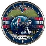 Houston Texans rund, chrom Wanduhr