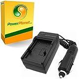 PowerPlanet Pentax D-L18, D-LI95 Chargeur de batterie rapide (comprend l'adaptateur pour automobile et les prises EU et GB, USA) pour Pentax Optio S, S4, S4i, S5i, S5n, S5z, S6, S7, SV, SVi, X, T10, T20, W10, W20, WP, Wpi, X