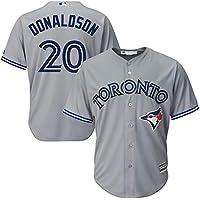YQSB Camiseta Deportiva Baseball Jersey Major League Baseball Toronto Blue Jays # 20 Donaldson Jersey Baseball Wear,Gray,Men-L