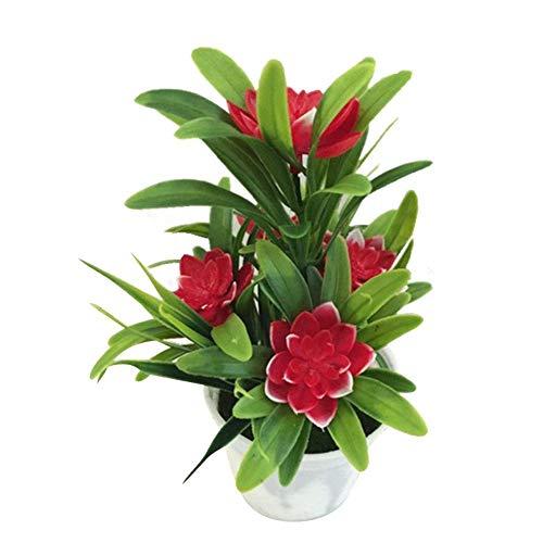 Dynamisch Frühling Europäischen Stil 7 Köpfe Rose Bouquet Hochzeit Dekorative Blume Seide Künstliche Blume Pfingstrose Mit Glas 12 Zweig 7 Farben Festliche & Party Supplies