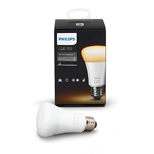 Philips 461004 Hue White Ambiance Single A19 Bulb, Works with Amazon Alexa