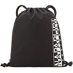 Napapijri HAPPY GYM SACK Mochila tipo casual, 42 cm, 18 liters, Negro (Black)