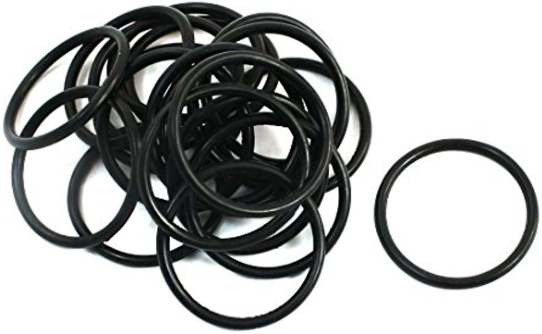20pcs reemplazo de goma Negro Juntas tóricas del sello de aceite Juntas 20x17x1.5mm