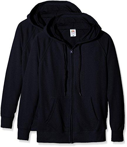 Fruit of the Loom Ladies Lightweight Hooded Jacket, Felpa Donna, Blu (Dark Navy), S