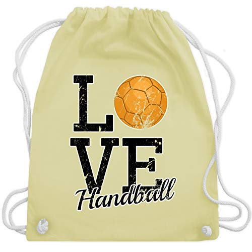 Handball - Love Handball - Unisize - Pastell Gelb - WM110 - Turnbeutel & Gym Bag