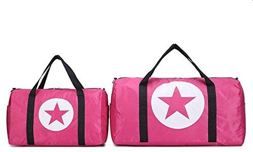 BACKSPORT Damen Herren Klassische Sporttasche Matchbag Reisetasche Henkel Tasche Club Sport Reise Wasserdicht #B Pink