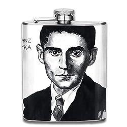 Edelstahlflasche Franz Kafka 7 Oz Stainless Steel Hip Flask Leakproof Flask, Pocket Flask Flasks For Liquor For Men Women Groommans Wedding Gift