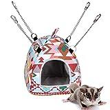 SYWAN Hamster Hängematte Gemütliche warme Baumwoll Zelt Chinchilla hängende Hütte