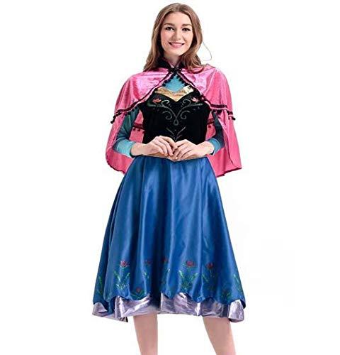 (CMFashion Damen Kostüm für Karneval Prinzessin Kleid Anna, Größe L)