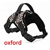 Stale Haustier Produkte Für Große Hundegeschirr K9 Leuchtende LED Kragen Welpen Führen Haustiere Weste Hundeleinen Zubehör Chihuahua Leopard Oxford S
