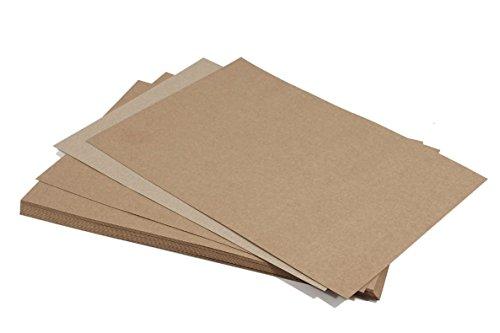 Umschläge Braune Quadratische (100 DIN A4-Bogen 170g/qm braunes Recyclingpapier Kraftpapier EKO)