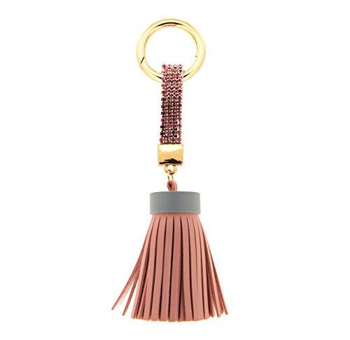 Sweet Deluxe 6143 Schlüsselanhänger Quaste I, Gold-Crystal-Rose, Geburtstagsgeschenk für Sie und Ihn, Geschenkidee, mit Schlüsselring mit Praktischem Karabinerverschluss, veganes Leder, Messing