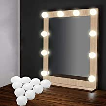 EEIEER Kit Lumiere LED Miroir Hollywood Vanity Mirror Light 10 A De Vanite