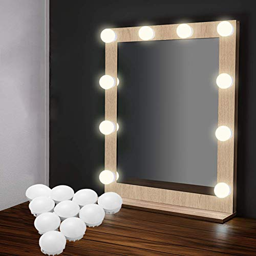 EEIEER, illuminazione per specchio Hollywood, 10 lampadine ...