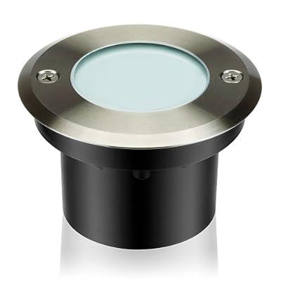 parlat, LED Bodeneinbauleuchte, warmweiß, Aluminium, outdoor, IP67, 12V, 2W, 99mm Ø von LEDs Com GmbH - Lampenhans.de