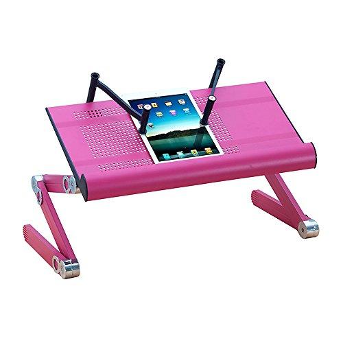ZHANGRONG- Bett Klapptisch Laptoptisch Hebe- Und Transportbügel Metall-Aluminium-Schreibtisch Faule Tabelle (Farbe : Lila)