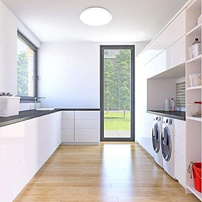 Plafoniera LED, luce bianca naturale 4000K, 1200 Lm, LED integrati 12W, diametro 28cm, lampada da soffitto moderna per cucina, salotto o camera da letto, per illuminazione di interni IP20, 230V
