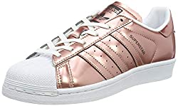 adidas Women's Superstar CG3680 Trainers, Brown/White, Size UK 7