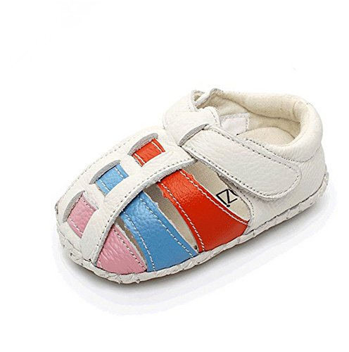AILEESE Neugeborene Junge Mädchen Baby Trainer Lauflernschuhe Kleinkind Schuhe Soft Bottom Prewalker Anti-Rutsch erste Walking Schuhe (6-24 Monate) Weiß