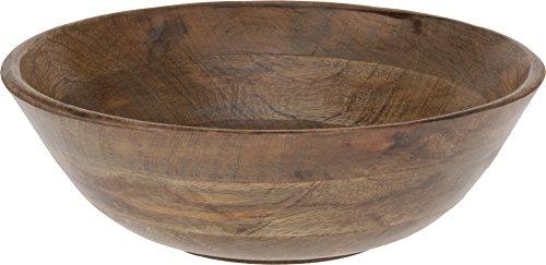 Ciotola 30cm diametro in legno naturale, insalata ciotola, ciotola