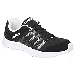 LOTTO MEN Adriano Black/White RUNNING Shoes 10 UK/India
