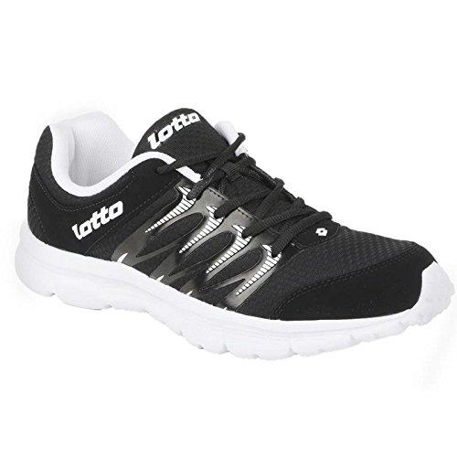 LOTTO MEN Adriano Black/White RUNNING Shoes 9 UK/India