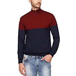 Wills Lifestyle Mens Zip Through Neck Colour Block Sweatshirt