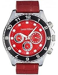 Reloj hombre Louis Villiers en acero rojo 45 mm lvag5877 – 6