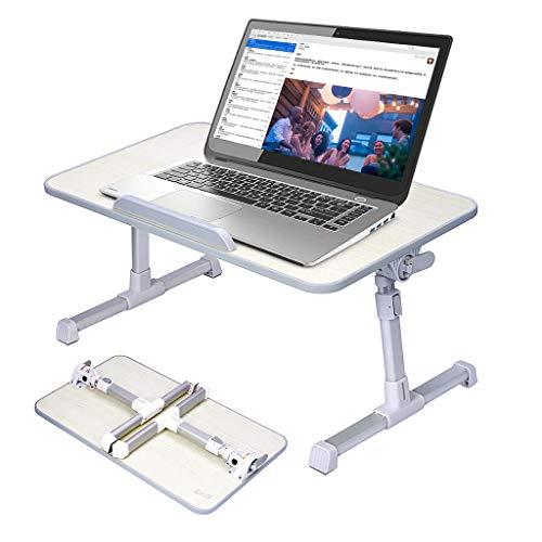Laptop Bett Tablett Tisch, Laptoptisch fürs Bett Sofa höhenverstellbar faltbar Lepdesks Laptopständer Betttisch Frühstücktisch Notebookständer Pflegetisch Notebook Tisch Couch Laptop Tablett Ständer -
