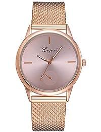 Yusealia Relojes Pulsera Mujer Despeje, Casual Reloj Banda de Silicona Parejas Relojes para Negocio Reloj de Cuarzo Analógico Casual para Mujer