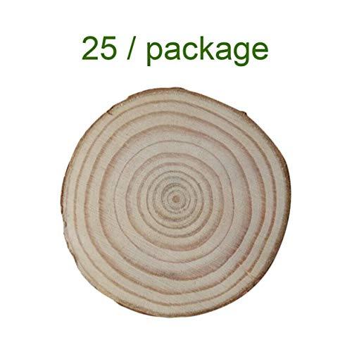 lz Log Scheiben DIY Handwerk Baum Ringe Dekoration Natur Kiefernholz Hochzeit Mittelstücke Holzpfahl Ornamente - Holz Farbe ()