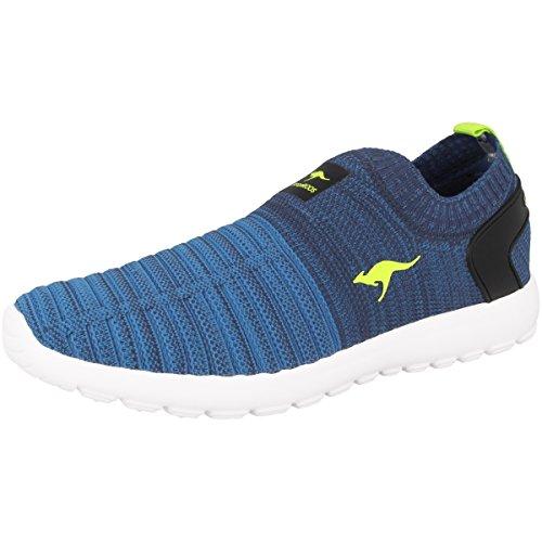 KangaROOS Unisex-Erwachsene W-600 Kids Sneaker Blau (Navy/Lime)