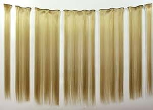 Ladieshair Clip In Haar Extension Hairextension Haarverlängerung 7er Set in Blond für längeres Haar in 5 Minuten! 60cm
