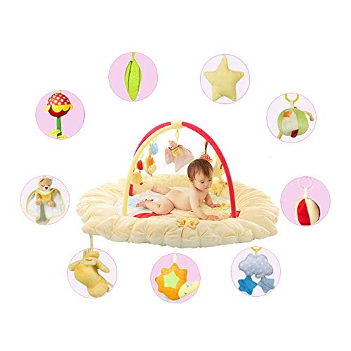Suave Educación temprana Super Soft Plush Activity Gym Play Mat Toy Fitness Frame with Hanging Soft...