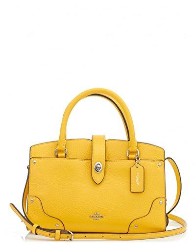 coach-mercer-24-plain-satchel-one-size-yellow