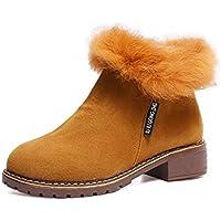 ZHZNVX Hsxz pour femme Chaussures PU Comfort Bottes d'hiver pour décontracté Vert Marron Gris Noir, gris, US7.5/EU38/UK5.5/CN38