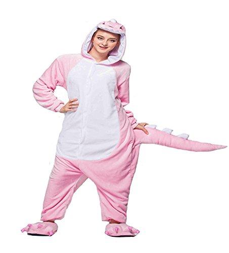 Tonwhar® Unisex pijama Kigurumi pijama traje Cosplay Homewear Lounge wear Rosa dinosaurio rosa small