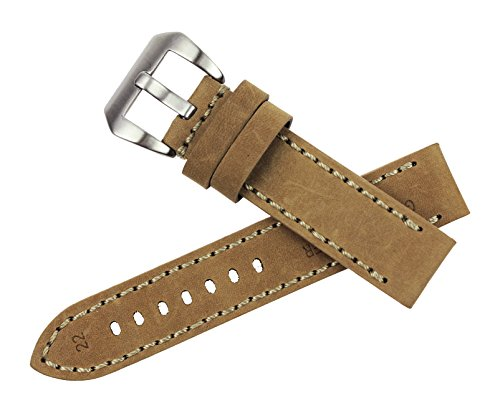 rechere-smooth-matt-leather-wristwatch-watch-band-strap-stitch-big-silver-brushed-pin-buckle-beige-2
