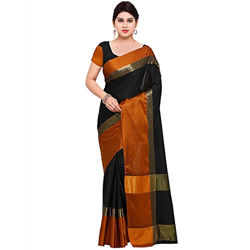 Craftsvilla Women's Art Silk saree Checks Print Multicolor With Blouse Piece