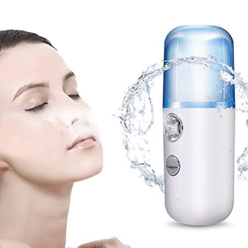 LDFANG Vaporizador Facial Manual, Rociador Nano-Facial De Hidratación Profunda, Ionizador De Belleza...