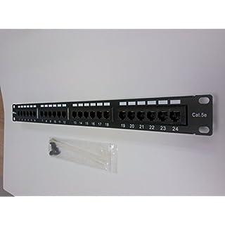 AVB Cable PP-5E-24 AVB Cable.com PP-5E-24-UTP CAT 5e Patch Panel 24 Port, Multicolor