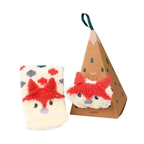 n Weihnachten Socken Korallen Samt Stickerei Wintersocke Weihnachtsgeschenk (H, 18*8CM) (Cartoon Beach Ball)
