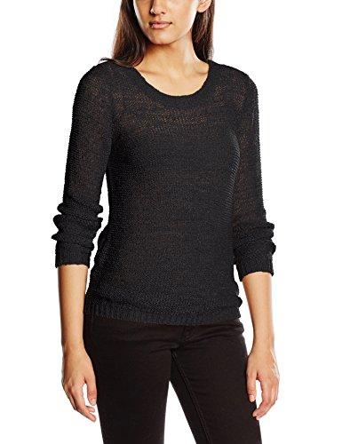 ONLY Damen Pullover onlGEENA XO L/S KNT NOOS, Einfarbig, Gr. 36 (Herstellergröße: S), Schwarz (Kleid Schwarzen Pullover Damen)