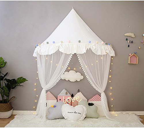 36dfad094dc766 Nordic Ideas Ciel de Lit Princesse Blanc Tente de Lit Moustiquaire Bebe  Baldaquin Rideaux de Lit