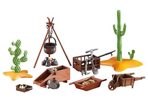 Playmobil - 6479 - Campement pour Chercheur d'Or - Emballage Plastique, pas de boîte en carton