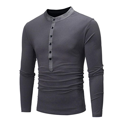 ITISME TOPS Mode Herren Männer Casual Slim Fit Langarm T-Shirt Shirt Tops Preisreduzierung Zeitlich Begrenzten ()