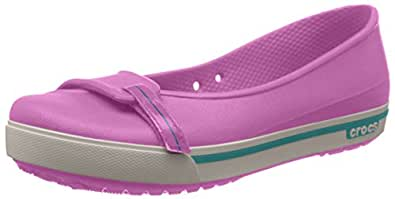 Crocs Crocband II.5, Ballerines femme - Rose (Party Pink/Surf), 35 EU