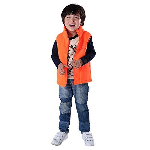 friendGG❤️❤️ Kinder Weste Jungen Fleece Weste Jacken Baseball Mantel Weste Kleidung Marine, Blau, Orange, ()