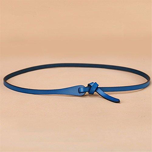 n Alle Jahreszeiten Taille Gürtel Leder Einfach Lässig Knoten Leder Kleid Dekoration Gürtel Freundin Anwesend Blau 90Cm ()